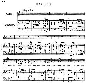 would you gain the tender creature. aria for tenor/soprano (damon). g.f.haendel: acis and galatea, hwv 49. vocal score (g.gervinus), ed. peters