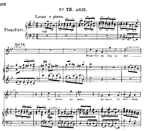 from this unhappy day. aria for soprano/tenor (david). (g.f.haendel: saul, hwv 53.vocal score (g.gervinus), ed. peters  (1925)