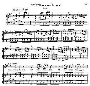 let but that spirit...thus when the sun in's watery bed. recitative and aria for tenor (samson). g.f.haendel: samson, hwv 57. vocal score. ed. schirmer