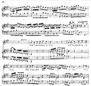 whence this dejection...with redoubled rage return. recitative and aria for tenor (joshua). g.f.haendel: joshua, hwv 64. vocal score (g.gervinus), ed. peters