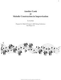 Another Look At Melodic Construction | eBooks | Music