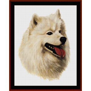 Samoyed - Robert J. May cross stitch pattern by Cross Stitch Collectibles | Crafting | Cross-Stitch | Wall Hangings