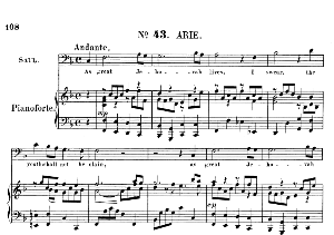 as great jehovah lives, i swear, the youth shall not be slain. aria for bass (saul). g.f.haendel: saul, hwv 53.vocal score (g.gervinus), ed. peters (1925) pd