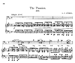 my father, look upon my anguish. aria for bass. g.f.haendel: brockes passion, hwv 48. vocal score. schirmer anthology of sacred song: bass. (m. spicker). ed. schirmer