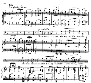 thus said the lord...but who may abide the day of his coming. recitative and aria for bass. g.f.haendel: messiah, hwv 56. vocal score. schirmer anthology of sacred song: bass. (m. spicker). ed. schirmer