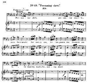 Presuming slave. Aria for Bass (Harapha). G.F.Haendel: Samson, HWV 57. Vocal Score, Ed. Schirmer (1900) | eBooks | Sheet Music