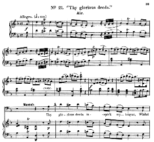 The good we wish for...Thy glorious deeds. Recitative and Aria for Bass (Manoah). G.F.Haendel: Samson, HWV 57. Vocal Score, Ed. Schirmer (1900). | eBooks | Sheet Music
