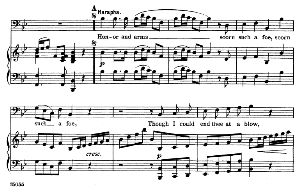 the honor certain to have won from thee... honor and arms. recitative and aria for bass (harapha). g.f.haendel: samson, hwv 57. vocal score, ed. schirmer (1900)