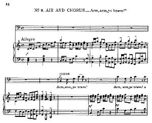 i feel the deity within… arm, arm, ye brave! recitative and aria for bass (simon). g.f.haendel: judas maccabaeus, hwv 63. vocal score, ed. schirmer (f. van der stucken). 1908.