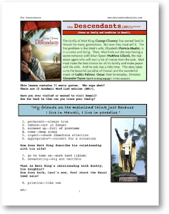 the descendants, whole-movie english (esl) lesson