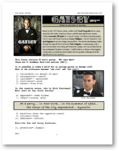 the great gatsby, whole-movie english (esl) lesson