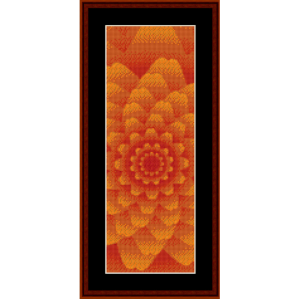 fractal 431 bookmark cross stitch pattern by cross stitch collectibles