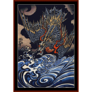 dragon - asian art cross stitch pattern by cross stitch collectibles