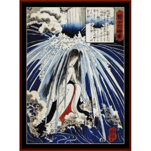 Hatsuhana Doing Penance - Asian Art cross stitch pattern by Cross Stitch Collectibles | Crafting | Cross-Stitch | Wall Hangings