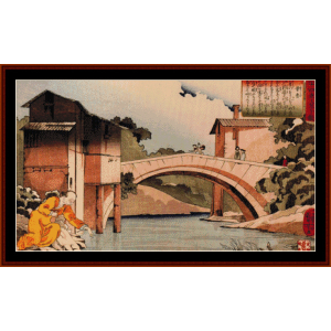 Sosan Returning to His Mother cross stitch pattern by Cross Stitch Collectibles | Crafting | Cross-Stitch | Wall Hangings