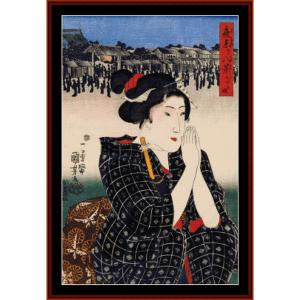 Woman I - Asian Art cross stitch pattern by Cross Stitch Collectibles | Crafting | Cross-Stitch | Wall Hangings