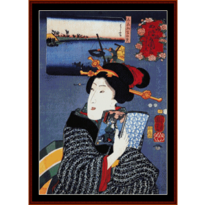Woman III - Asian Art cross stitch pattern by Cross Stitch Collectibles | Crafting | Cross-Stitch | Wall Hangings