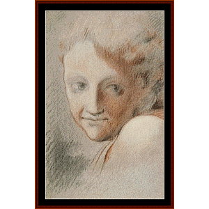 head of an angel - correggio cross stitch pattern by cross stitch collectibles