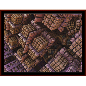 Fractal 432 cross stitch pattern by Cross Stitch Collectibles | Crafting | Cross-Stitch | Wall Hangings