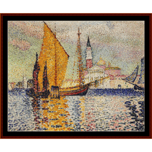 san giorgio maggiore, venice - cross cross stitch pattern by cross stitch collectibles