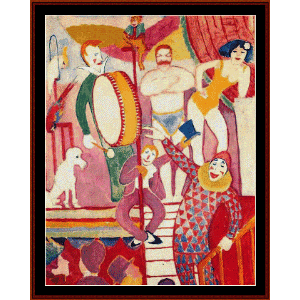 circus - macke cross stitch pattern by cross stitch collectibles