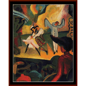 russisches ballett - macke cross stitch pattern by cross stitch collectibles