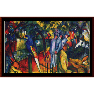 zoological garden - macke cross stitch pattern by cross stitch collectibles