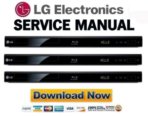 LG BP220 Blu Ray Player Original Service Manual Download | eBooks | Technical