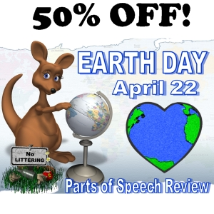 50% off earth day parts of speech powerpoint