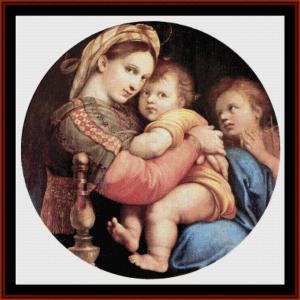 Madonna della Seggiola - Raphael cross stitch pattern by Cross Stitch Collectibles | Crafting | Cross-Stitch | Wall Hangings