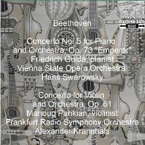 beethoven: emperor concerto - gulda/vsoo/swarowsky; violin concerto - parikian/frso/kranhals