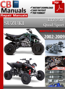 suzuki  ltz 250 quad sport 2002-2009 service repair manual