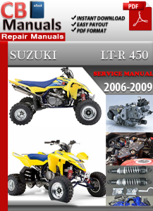 suzuki lt r 450 2006-2009 service repair manual