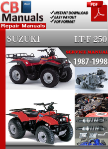 suzuki lt-f 250 1987-1998 service repair manual