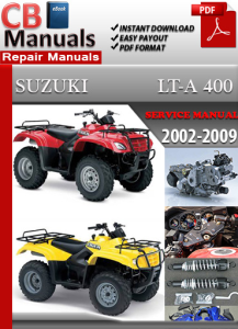 suzuki lta 400 2002-2009 service repair manual