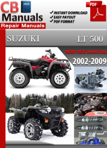 suzuki lt 500 2002-2009 service repair manual