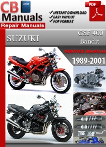 suzuki bandit gsf 400 1989-2001 service repair manual