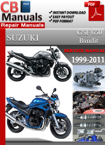 suzuki bandit gsf 650 1999-2011 service repair manual