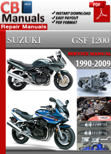 suzuki bandit gsf 1200 1990-2009 service repair manual