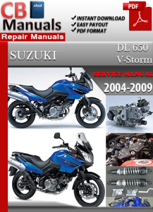 suzuki dl 650 v-storm 2004-2009 service repair manual