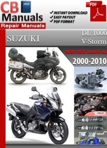 suzuki dl 1000 v-strom 2000-2010 service repair manual