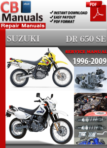 Suzuki DR 650 SE 1996-2009 Service Repair Manual | eBooks | Automotive