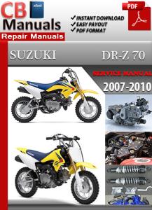 suzuki dr z 70 2007-2010 service repair manual