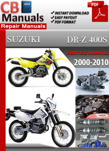 suzuki dr z 400 s 2000-2010 service repair manual