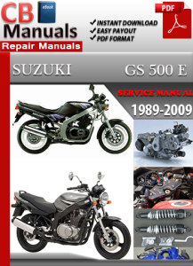 Suzuki GS 500 E 1989-2009 Service Repair Manual | eBooks | Automotive