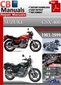 suzuki gsx 400 1981-1999 service repair manual