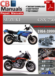 suzuki gsx 750 1984-1999 service repair manual