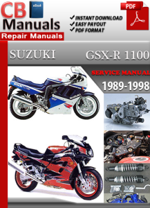 suzuki gsx r 1100 1989-1998 service repair manual
