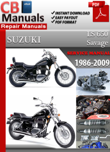 suzuki ls 650 savage 1986-2009 service repair manual