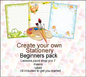 printable stationary designs - paint shop pro beginners pack